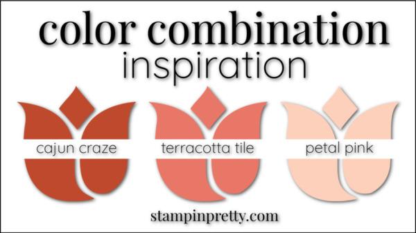 Color Combinations Cajun Craze, Terracotta Tile, Petal Pink