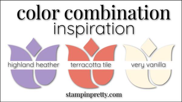Color Combinations Highland Heather, Terracotta Tile, Very Vanilla