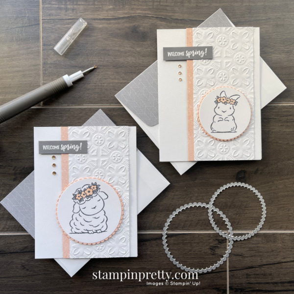 Create these Spring Cards using the Springtime Joy Stamp Set from Stampin' Up! Mary Fish, Stampin' Pretty