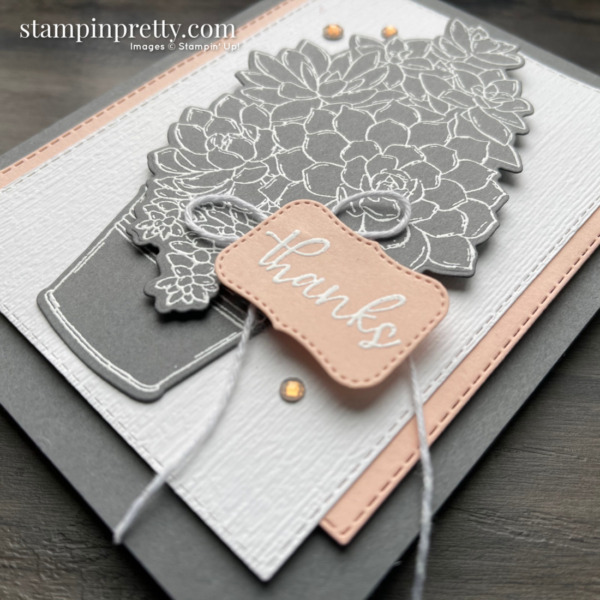 Create this card using the Simply Succulents Bundle from Stampin' Up! Card by Mary Fish, Stampin' Pretty (1)