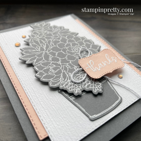 Create this card using the Simply Succulents Bundle from Stampin' Up! Card by Mary Fish, Stampin' Pretty (2)