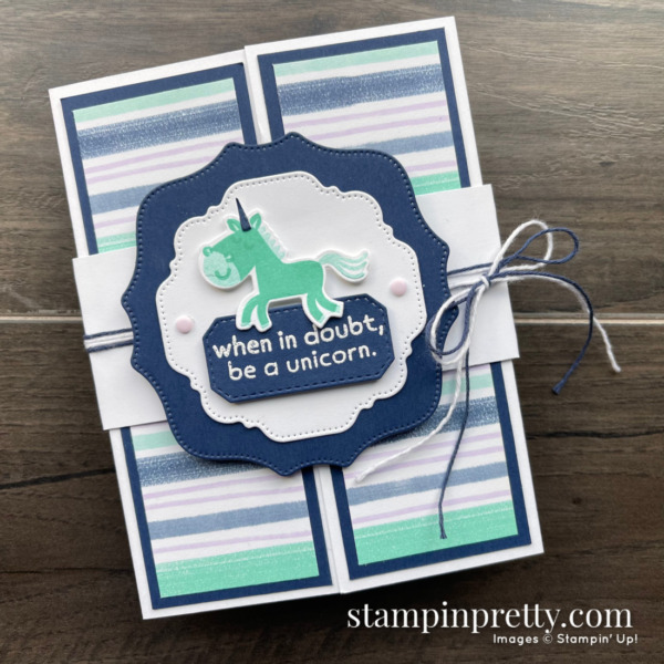 Create this gatefold card using the Hippo Happiness Bundle from Stampin' Up! Card by Mary Fish, Stampin' Pretty (1)