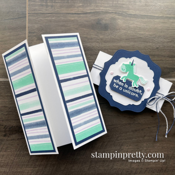 Create this gatefold card using the Hippo Happiness Bundle from Stampin' Up! Card by Mary Fish, Stampin' Pretty (2)