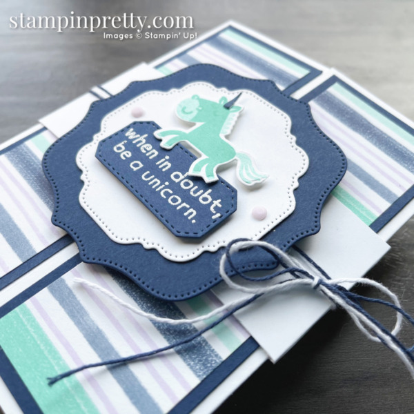 Create this gatefold card using the Hippo Happiness Bundle from Stampin' Up! Card by Mary Fish, Stampin' Pretty (3)