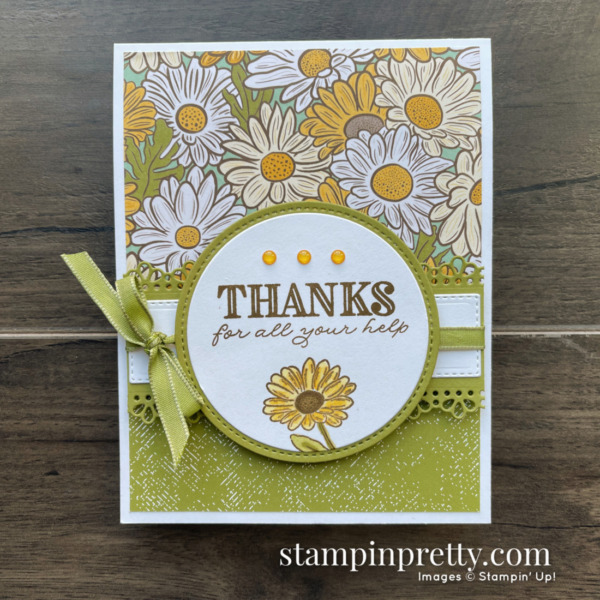 Ornate Garden Designer Series Paper from Stampin' Up! Thanks for All Your Help Card Mary Fish, Stampin' Pretty