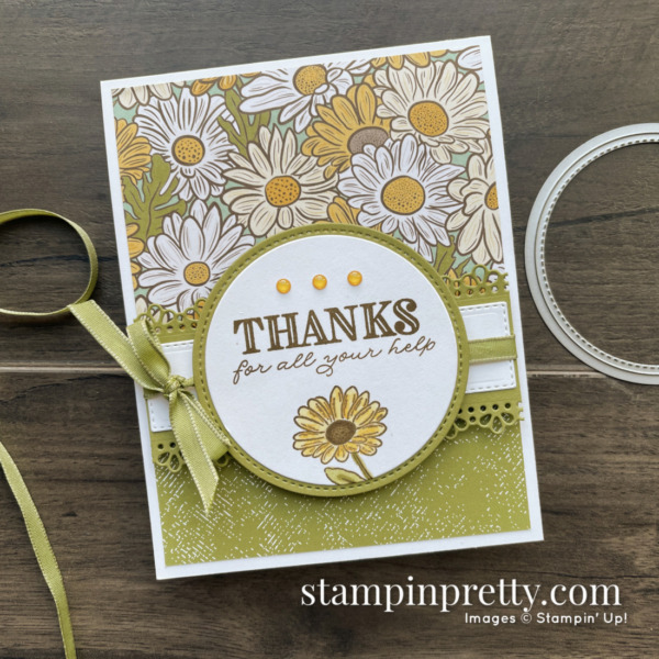 Ornate Garden Suite of Products from Stampin' Up! Thanks Card by Mary Fish, Stampin' Pretty