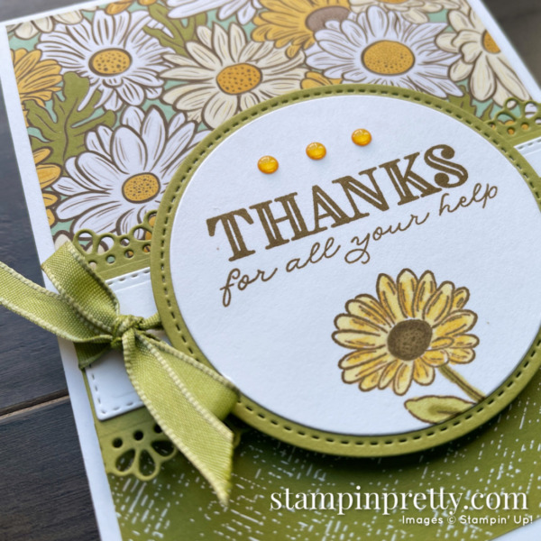 Ornate Garden Suite. Thanks card Mary Fish, Stampin' Pretty