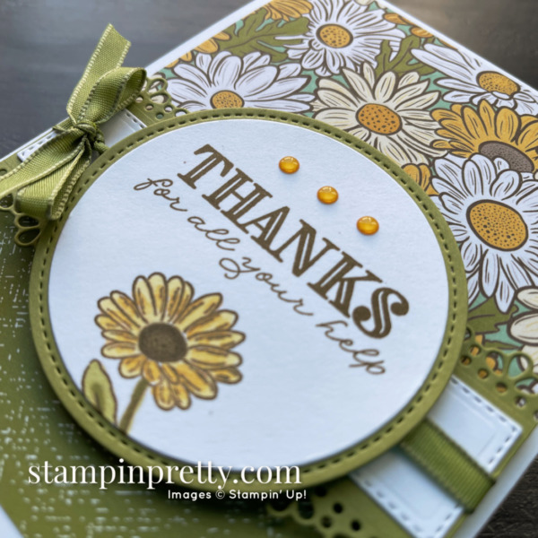 Ornate Thanks Card - Retiring Products - Mary Fish, Stampin' Pretty