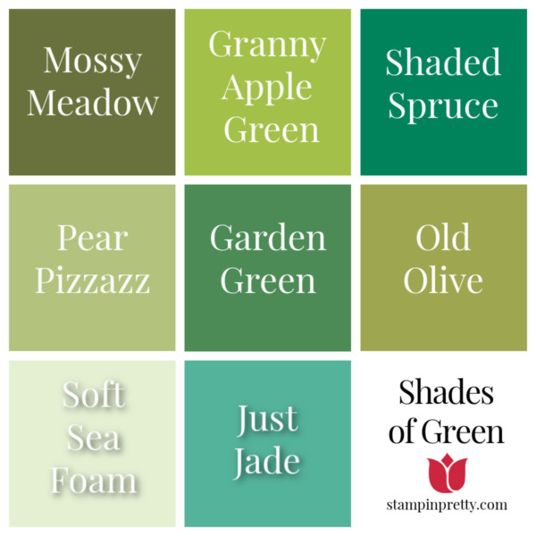 Shades of Stampin' Up! Greens Stampin' Pretty, Mary Fish