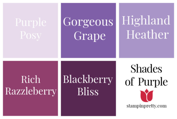 Shades of Stampin' Up! Purple Stampin' Pretty, Mary Fish