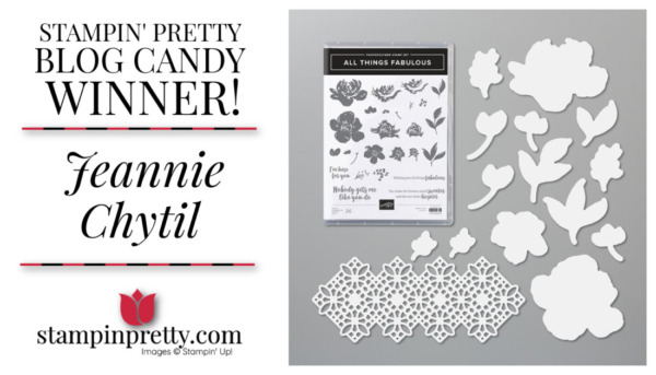 Stampin' Pretty Blog Candy Giveaway - All Things Fabulous Bundle Winner