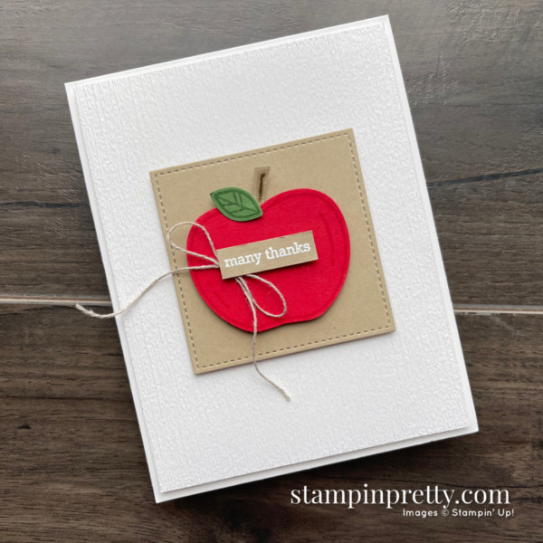 Stampin' Up! Apple Builder Punch, Itty Bitty Greetings, Retiring. Shop Online Mary Fish, Stampin' Pretty