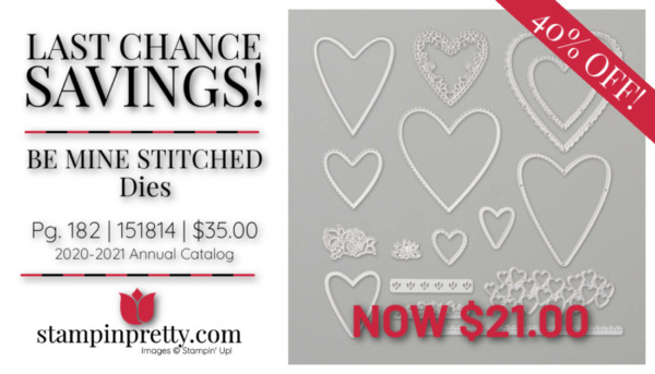 Stampin' Up! Be Mine Stitched Dies $21.00 Mary Fish, Stampin' Pretty