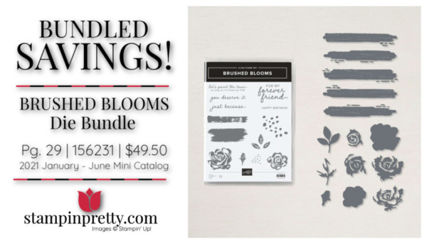Stampin' Up! Brushed Blooms Die Bundle 156231 $49.50 Mary Fish, Stampin' Pretty