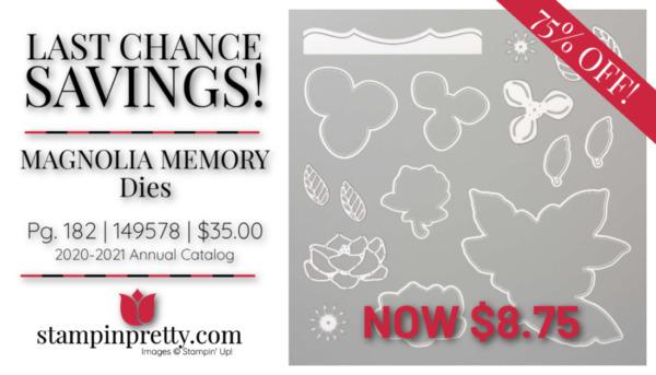 Stampin' Up! Magnolia Memory Dies $8.75 Mary Fish, Stampin' Pretty