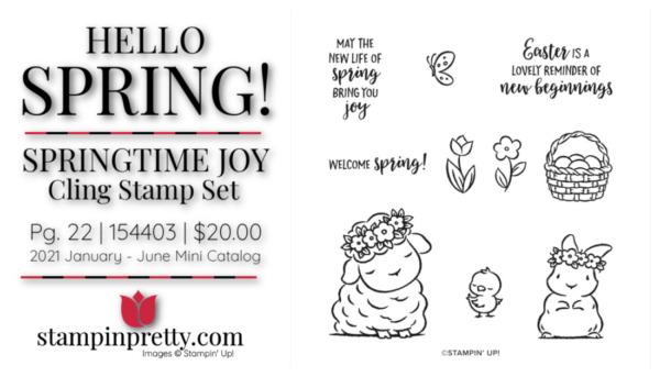 Stampin' Up! Springtime Joy Cling Stamp Set Item 154403 $20 Mary Fish, Stampin' Pretty