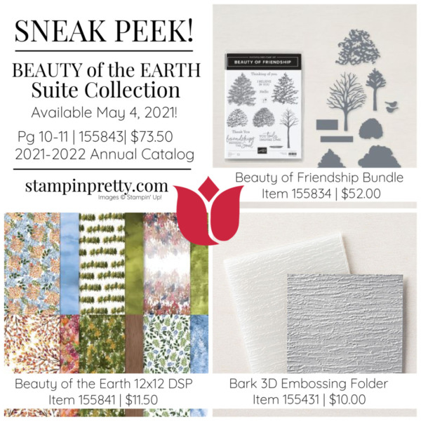 Beauty of the Earth Suite Collection 155843 from Stampin' Up! Available May 4, 2021 Mary Fish, Stampin' Pretty