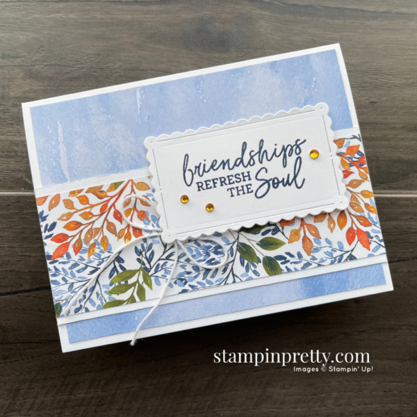 Beauty of the Earth Suite from Stampin' Up! Sneak Peek Friendship Card by Mary Fish, Stampin' Pretty 2