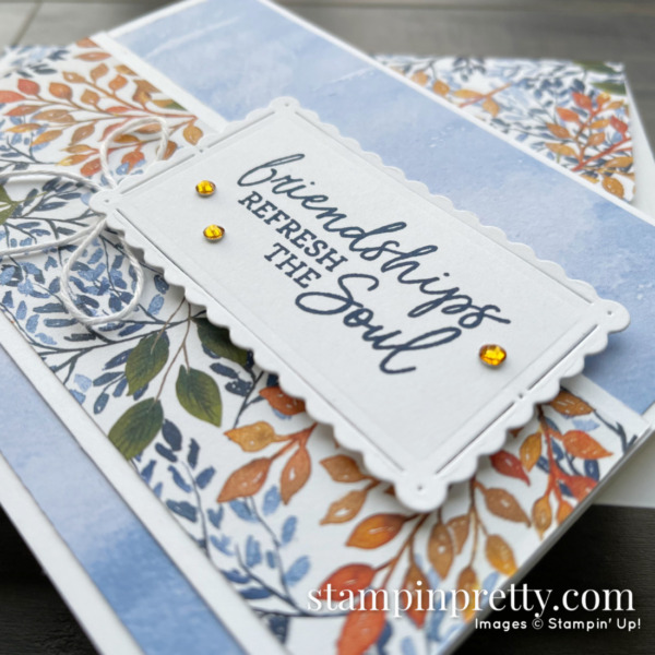 Beauty of the Earth Suite from Stampin' Up! Sneak Peek Friendship Card by Mary Fish, Stampin' Pretty 3