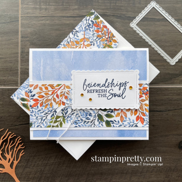Beauty of the Earth Suite from Stampin' Up! Sneak Peek Friendship Card by Mary Fish, Stampin' Pretty