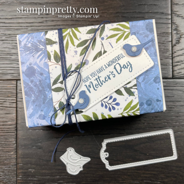 CREATE this Love You Always Treat Box with Beauty of the Earth Suite and Tailor Made Tag Dies from Stampin' Up! Mary Fish, Stampin' Pretty