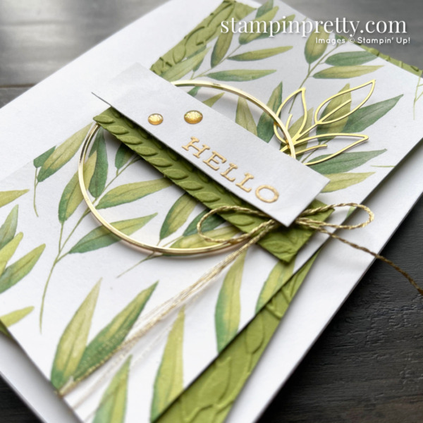 Forever Fern Hello Card for Sketch 23 - 2. Card by Mary Fish, Stampin' Pretty (1)