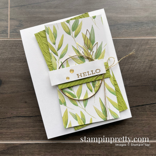 Forever Fern Hello Card for Sketch 23. Hello Card by Mary Fish, Stampin' Pretty