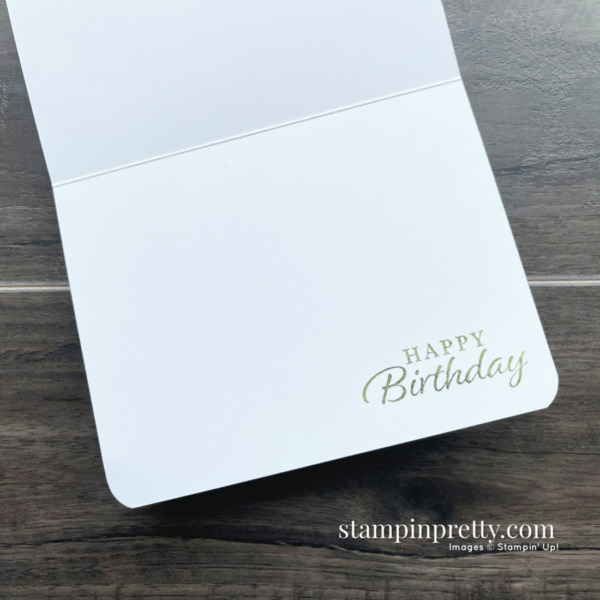 Happy Birthday Happy Thoughts from Stampin' Up! Card by Mary Fish, Stampin' Pretty
