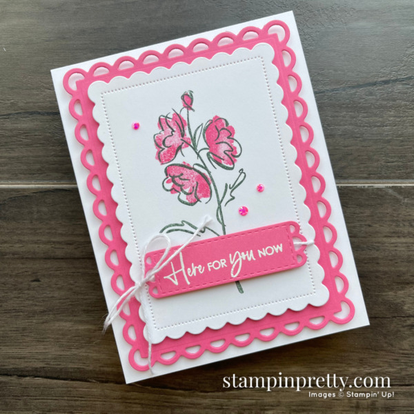 SNEAK PEEK! Color & Contour Bundle + Polished Pink In Color from Stampin' Up! Card by Mary Fish, Stampin' Pretty