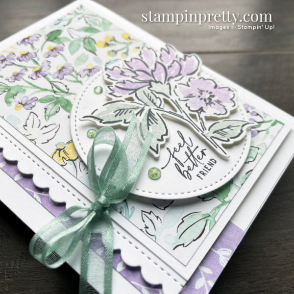 SNEAK PEEK! Hand-Penned Suite Collection Item 155503 $66.25 _ Feel Better Friend Card 2 by Mary Fish, Stampin' Pretty