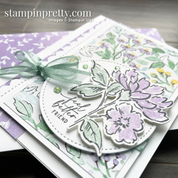 SNEAK PEEK! Hand-Penned Suite Collection Item 155503 $66.25 _ Feel Better Friend Card & Envelope by Mary Fish, Stampin' Pretty