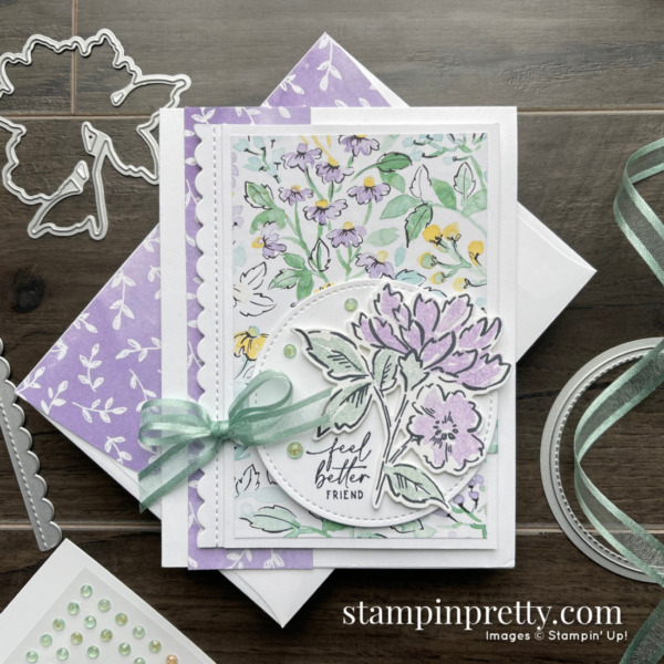 SNEAK PEEK! Hand-Penned Suite Collection Item 155503 $66.25 _ Feel Better Friend Card by Mary Fish, Stampin' Pretty