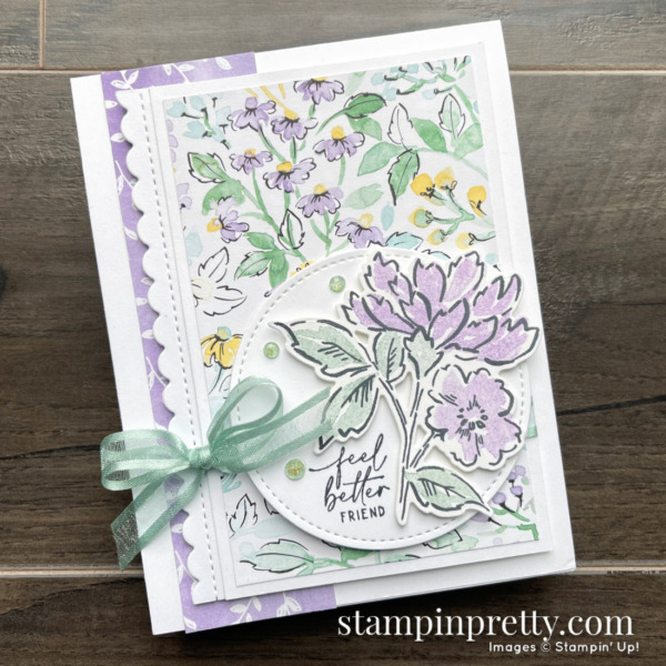 SNEAK PEEK! Hand-Penned Suite Collection Item 155503 $66.25 _ Feel Better Friend Handmade Card by Mary Fish, Stampin' Pretty