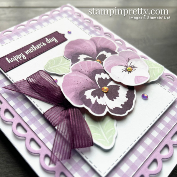 SNEAK PEEK! Pansy Petals Suite Collection from Stampin' Up! Happy Mother's Day Card by Mary Fish, Stampin' Pretty