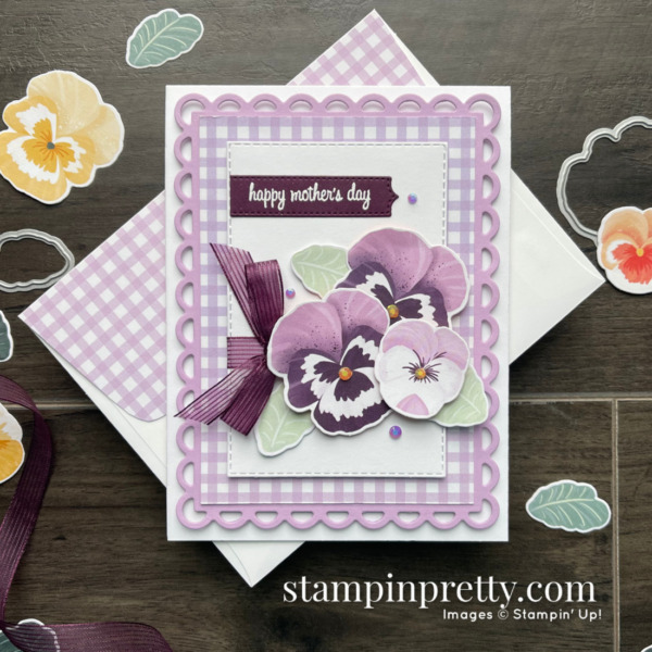 SNEAK PEEK Pansy Petals Suite Collection from Stampin' Up! Happy Mother's Day Card by Mary Fish, Stampin' Pretty