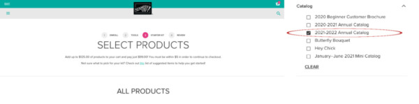 Select Products from Catalog