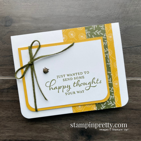 Stampin' Up! Dandy Garden Suite Collection - Happy Thoughts Birthday Card by Mary Fish, Stampin' Pretty