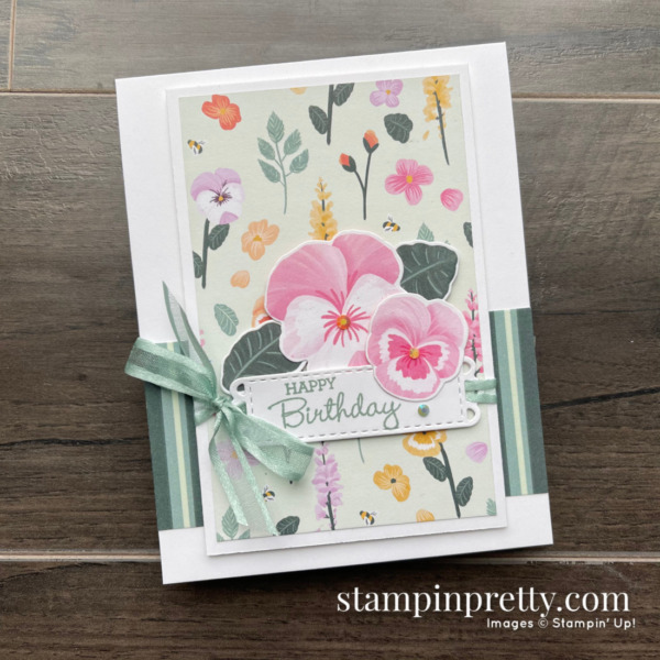 Stampin' Up! Pansy Patch Stamp Set SNEAK PEEK! Available May 4, 2021 Mary Fish, Stampin' Pretty