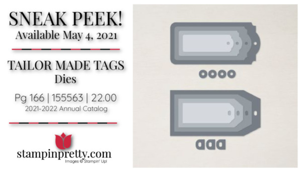 Stampin' Up! Tailor Made Tags Dies 155563 Page 166 Available May 4 2021