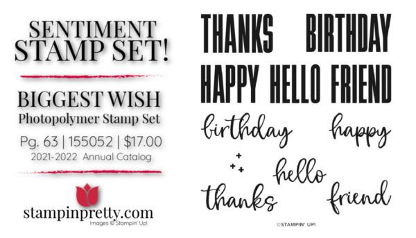 BIGGEST WISH Stamp Set 155052 Stampin' Up! Buy Online 24.7 Mary Fish Stampin' Pretty