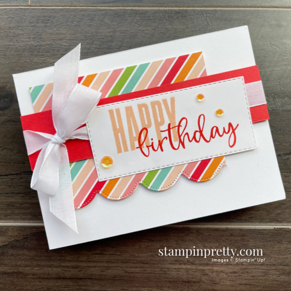 Create this Happy Birthday Card using the Biggest Wish Stamp Set from Stampin' Up! Mary Fish, Stampin' Pretty