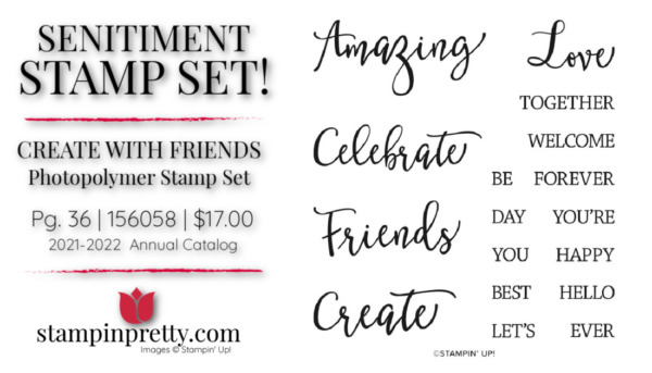 Create with Friends SENTIMENT Stamp Set 156058 Stampin' Up! Buy Online 24.7 Mary Fish Stampin' Pretty