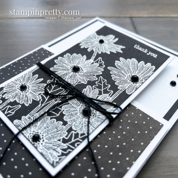 Daisy Garden and NEW Through It Together Stamp Set by Stampin' Up! Dutch Door Fun Fold Side View by Mary Fish, Stampin' Pretty