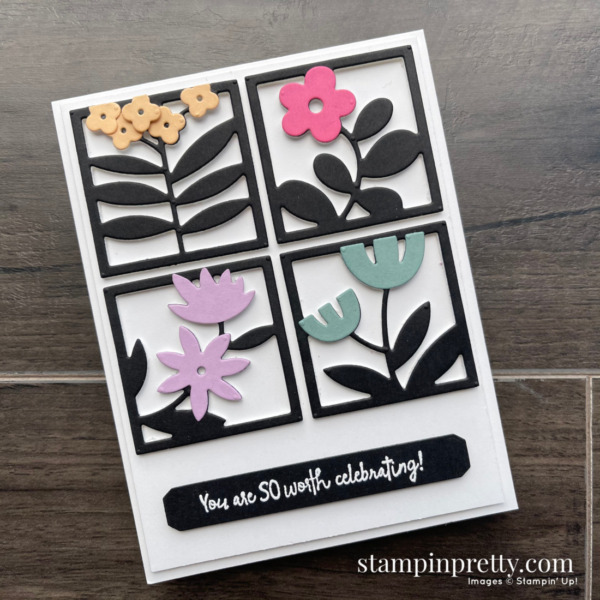 Floral Squares Dies from Stampin' Up! All Squared Away Bundle Card by Mary Fish, Stampin' Pretty