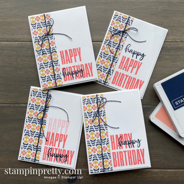 Four Fun and Simple Cards using the Biggest Wish Stamp Set by Stampin' Up! Cards by Mary Fish, Stampin' Pretty
