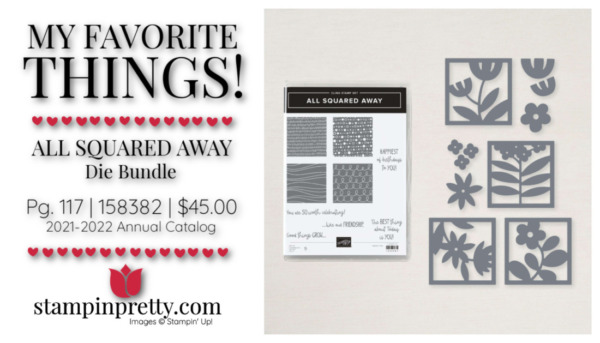 My Favorite Things Mary Fish Stampin' Pretty Stampin' Up! All Squared Away Bundle 158382 $45.00