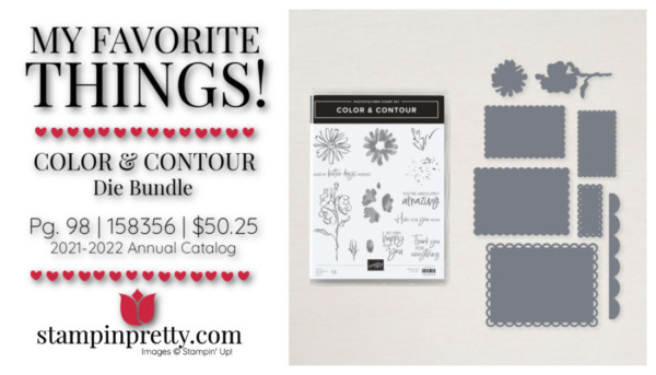 My Favorite Things Mary Fish Stampin' Pretty Stampin' Up! Color & Contour Bundle 158356 $50.25
