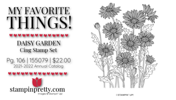My Favorite Things Mary Fish Stampin' Pretty Stampin' Up! Daisy Garden Cling Stamp Set 155079 $22.00