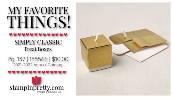 My Favorite Things Mary Fish Stampin' Pretty Stampin' Up! Simply Classic Treat Boxes 155566 $10