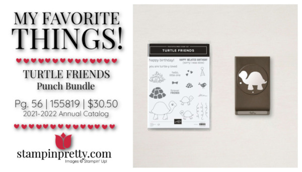 My Favorite Things Mary Fish Stampin' Pretty Stampin' Up! Turtle Friends Bundle 155819 $30.50
